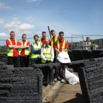 The on-site team with Wolfgang