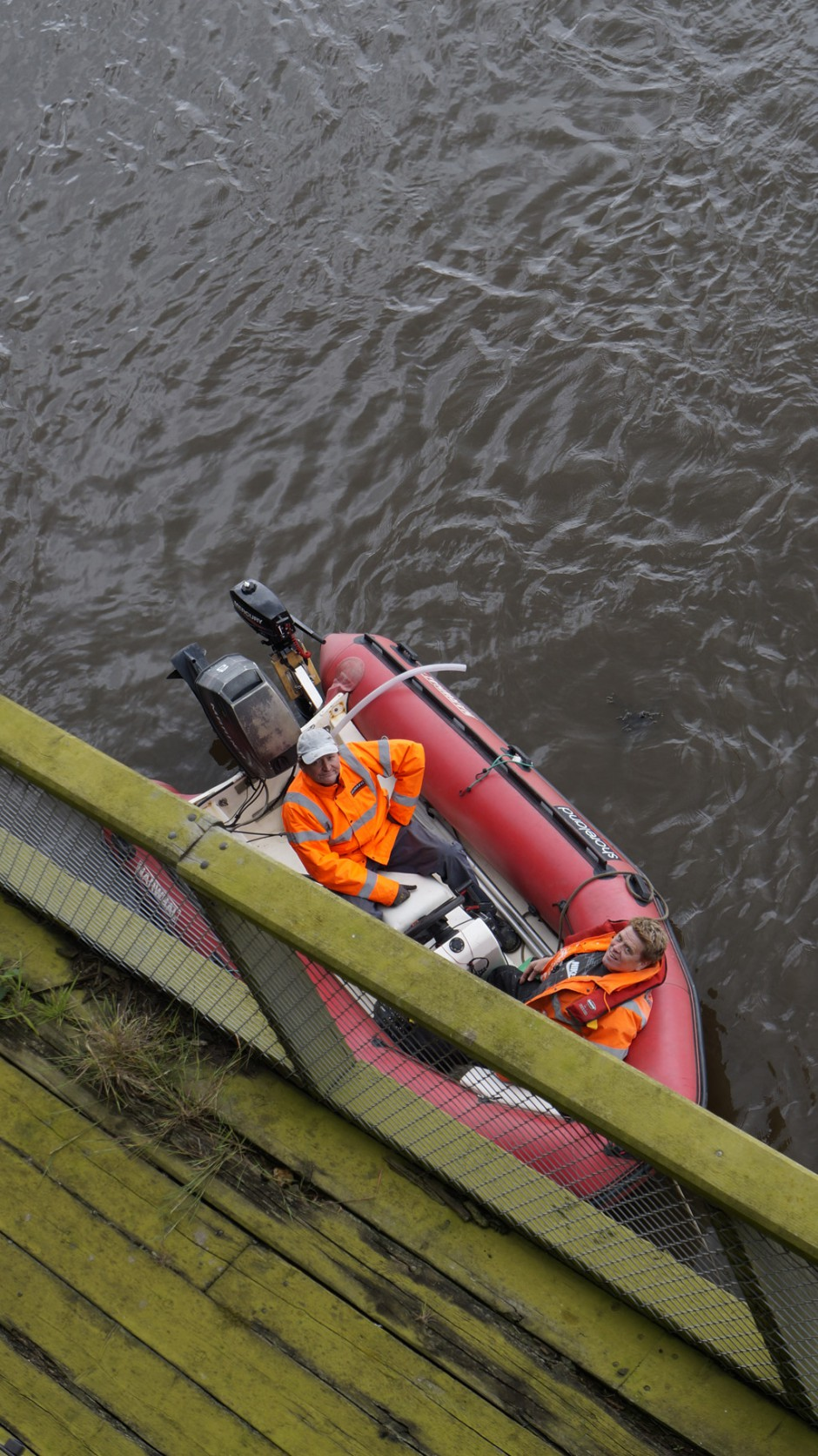 33. Safety boat on site